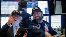 US STOCKS-Wall Street hits new high as data boosts growth outlook
