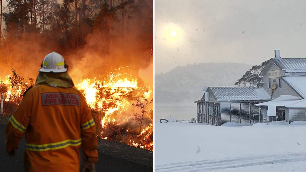 Fire and ice: Australian states brace for extreme weather