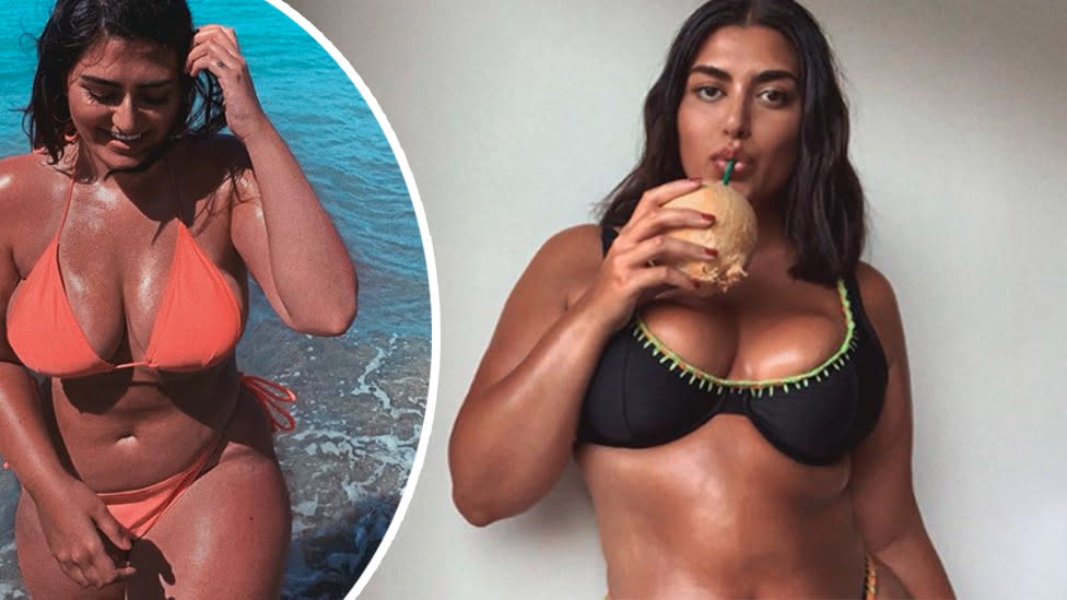 Size 16 model in tears over response to viral bikini ad