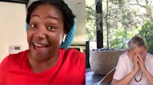 Tiffany Haddish Accidentally Went to the Restroom During a Zoom Call: 'Y'all Can See Me?!'