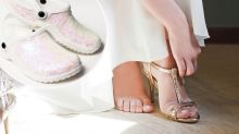 You can now buy bridal crocs for your wedding day