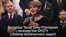 Baroness Tanni Grey-Thompson receives SPOTY Lifetime Achievement award