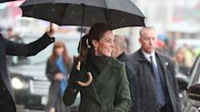 Kate Middleton Stuns In Olive Green Coat For Blackpool Visit With Prince William