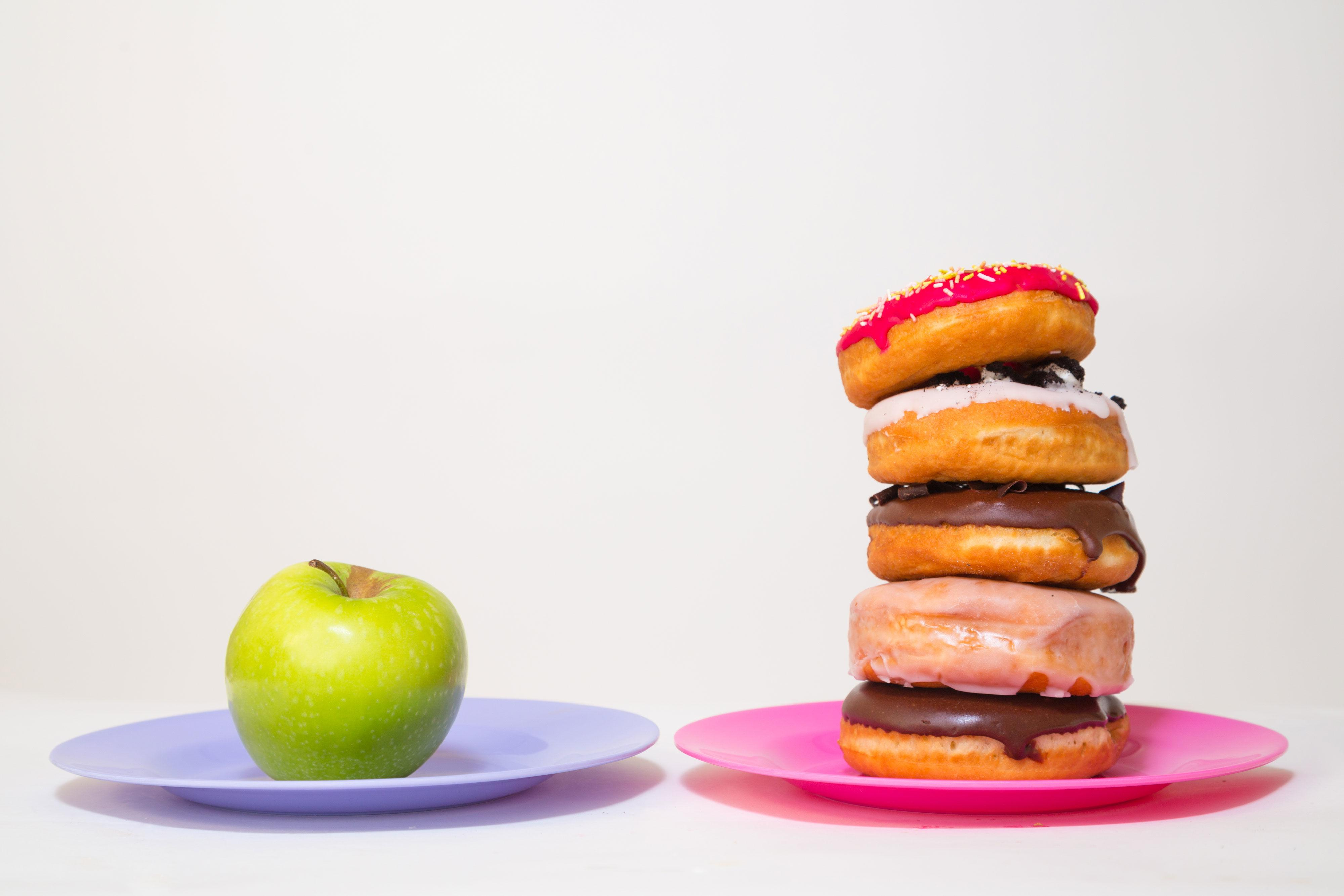 """<p>This means you should <a href=""""http://www.redbookmag.com/body/healthy-eating/g3123/food-cravings/"""" rel=""""nofollow noopener"""" target=""""_blank"""" data-ylk=""""slk:tune into hunger/fullness cues"""" class=""""link rapid-noclick-resp"""">tune into hunger/fullness cues</a> to determine whether you <i>reallllly</i> want that second chocolate chip cookie or not, and not just rely on what other people around you are eating or <a href=""""http://www.redbookmag.com/body/health-fitness/news/a46001/nickelodeon-bad-kids-health-new-study/"""" rel=""""nofollow noopener"""" target=""""_blank"""" data-ylk=""""slk:seductive marketing"""" class=""""link rapid-noclick-resp"""">seductive marketing</a>. """"Are you really hungry? Ask yourself whether a celery stick or apple sounds delicious — if not, you're probably not hungry,"""" says <a href=""""http://plantbaseddietitian.com/"""" rel=""""nofollow noopener"""" target=""""_blank"""" data-ylk=""""slk:Julieanna Hever"""" class=""""link rapid-noclick-resp"""">Julieanna Hever</a>, R.D., author of <i><a href=""""http://www.amazon.com/The-Vegiterranean-Diet-Mediterranean-Plan/dp/0738217891?tag=syndication-20&&ascsubtag=redbook.gallery.3565"""" rel=""""nofollow noopener"""" target=""""_blank"""" data-ylk=""""slk:The Vegiterranean Diet"""" class=""""link rapid-noclick-resp"""">The Vegiterranean Diet</a></i>.</p>"""