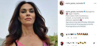 Maria Grazia Cucinotta, boom di like per il décolleté che straborda - FOTO