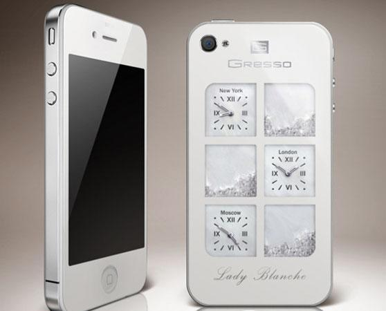 Gresso flaunts $30,000 white iPhone 4, holds more ice than a skating rink
