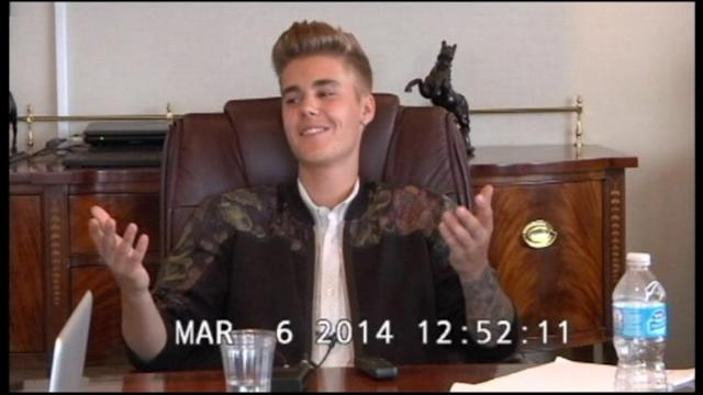 Bieber Acts Smug in Deposition Video