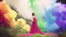 Woman poses for dramatic pregnancy shot after having six miscarriages