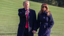 Melania and Donald Trump Travel Hand-in-Hand As His Alleged Ex-Mistress Prepares to Tell All