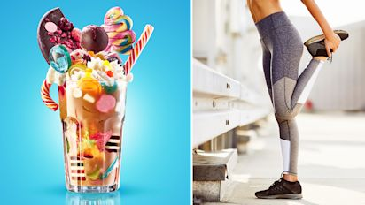 How much exercise would you have to do to burn off a freakshake?