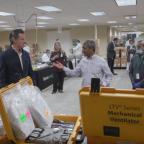 Coronavirus: Federal government sends California broken ventilators