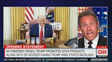 Chris Cuomo calls out Trump's 'bulls**t' picture with Goya products at Resolute Desk