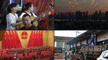 """China feiert die """"Wiedergeburt"""" von Wuhan"""