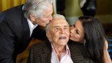 Michael Douglas, Catherine Zeta-Jones mourn Kirk Douglas at funeral two days after death
