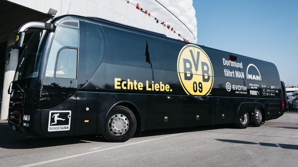 Vor Bayern-Spiel: Zwischenfall mit BVB-Bus