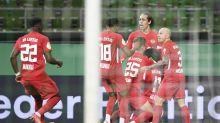 Leipzig beats Bremen 2-1 late to reach German Cup final