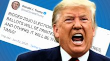 Trump ramps up attack on mail-in voting with unfounded warning about false ballots from 'foreign countries'