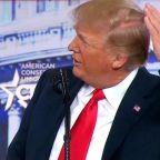 Trump admits he's going bald in CPAC speech