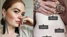 'I don't need an excuse for every mark': Blogger's powerful photos offer an alternative to body positivity