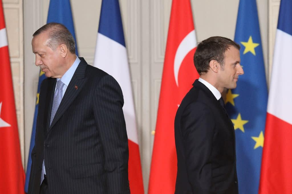Erdogan met Macron in Paris last week (AFP Photo/LUDOVIC MARIN)