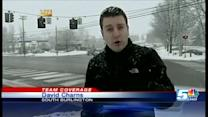 Big snowflakes kick in during evening commute