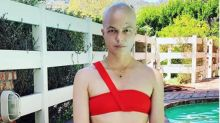 Selma Blair stuns in a red bikini while showing off her new bald 'do