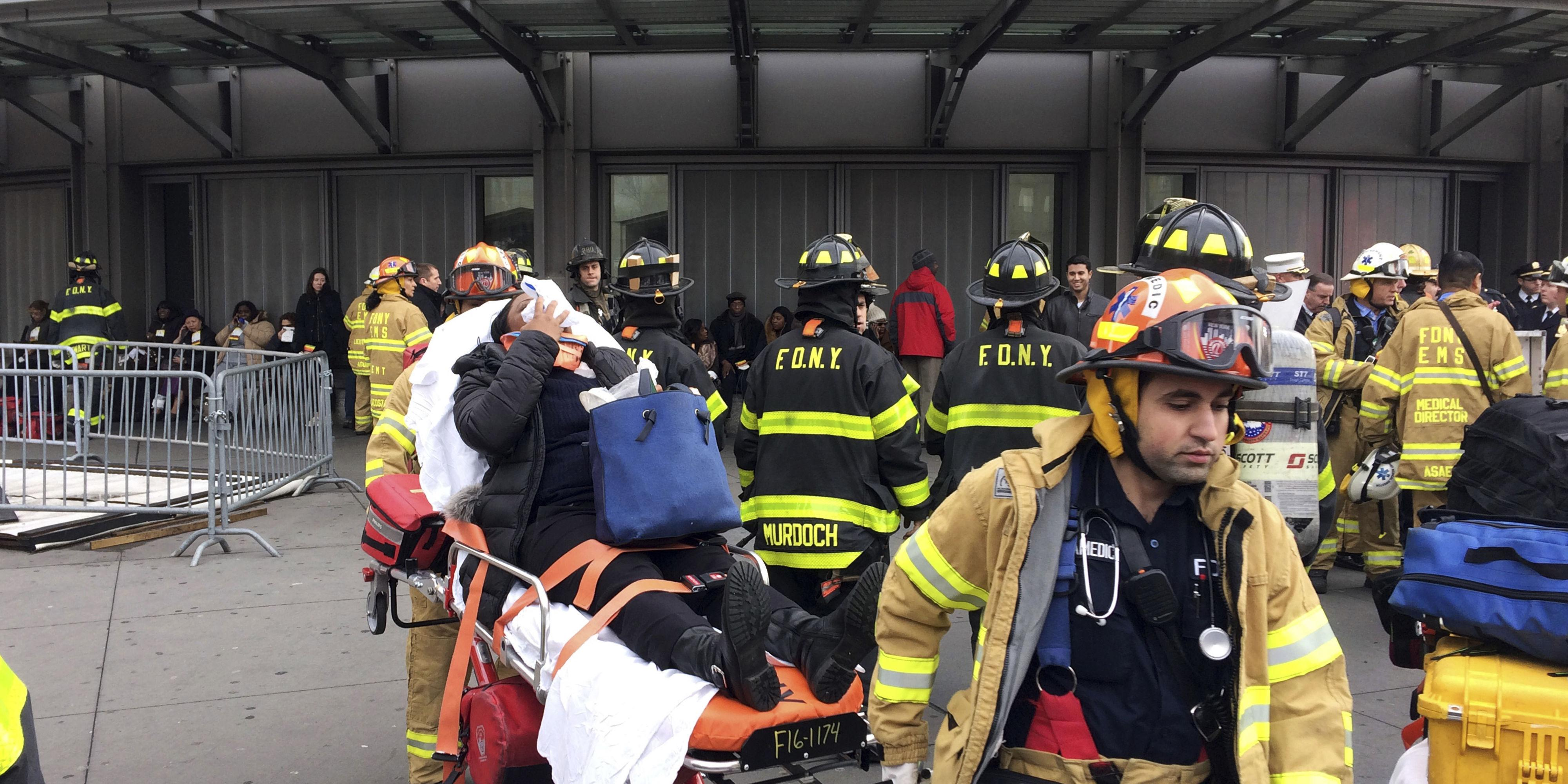 A New York City Train Derailed, Injuring Over 100 People