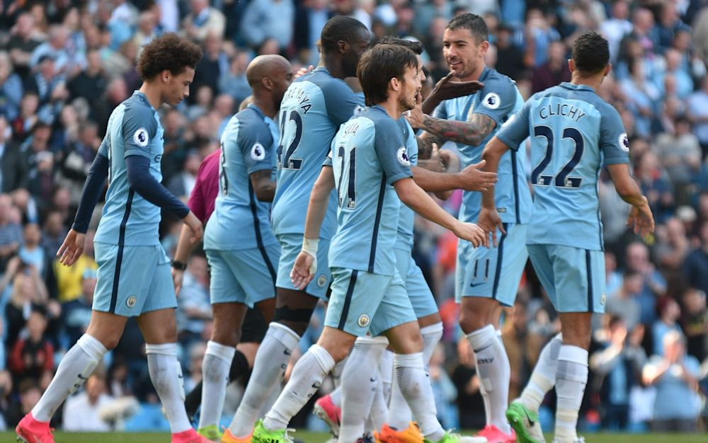 Manchester City were barely troubled as they cruised to victory - Rex Features