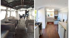 Em três anos, mulher transforma ônibus antigo em casa móvel de luxo
