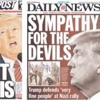 'Sympathy for the devils' - How US Newspapers reacted to Donald Trump's Charlottesville comments