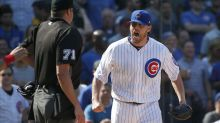 Willson Contreras suspended two games, John Lackey fined for run-in with ump