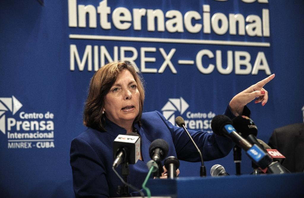 Director General of the US division at Cuba's Foreign Ministry Josefina Vidal, pictured on May 16, 2016, urged President Barack Obama to ensure his successor cannot undo the countries' historic rapprochement (AFP Photo/Yamil Lage)