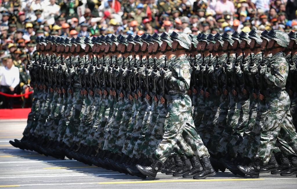 China's People's Liberation Army has more than two million personnel, making it the world's largest fighting force (AFP Photo/Jason Lee)