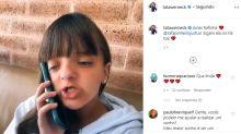 Rafinha Justus imita trote de Tatá Werneck e diverte internautas