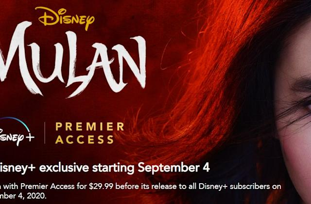Disney+ confirms subscribers will get 'Mulan' on December 4th