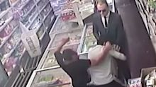 Amateur thieves pose as police officers to rob shopkeeper