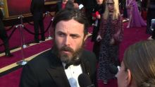 Casey Affleck on Hollywood and politics: Oscars 2017 red carpet