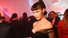 Bella Hadid wore another steamy naked dress