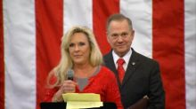 Roy Moore's wife defends him against 'fake news'