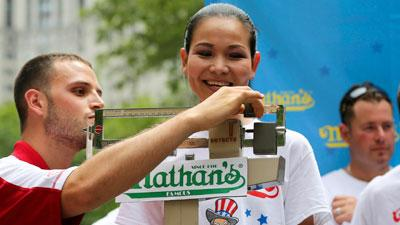 Hopefuls Weigh-In for Hot Dog Eating Contest