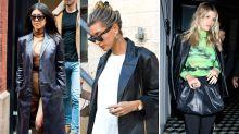 Kourtney Kardashian and Sofia Richie Love This Leather Blazer Trend