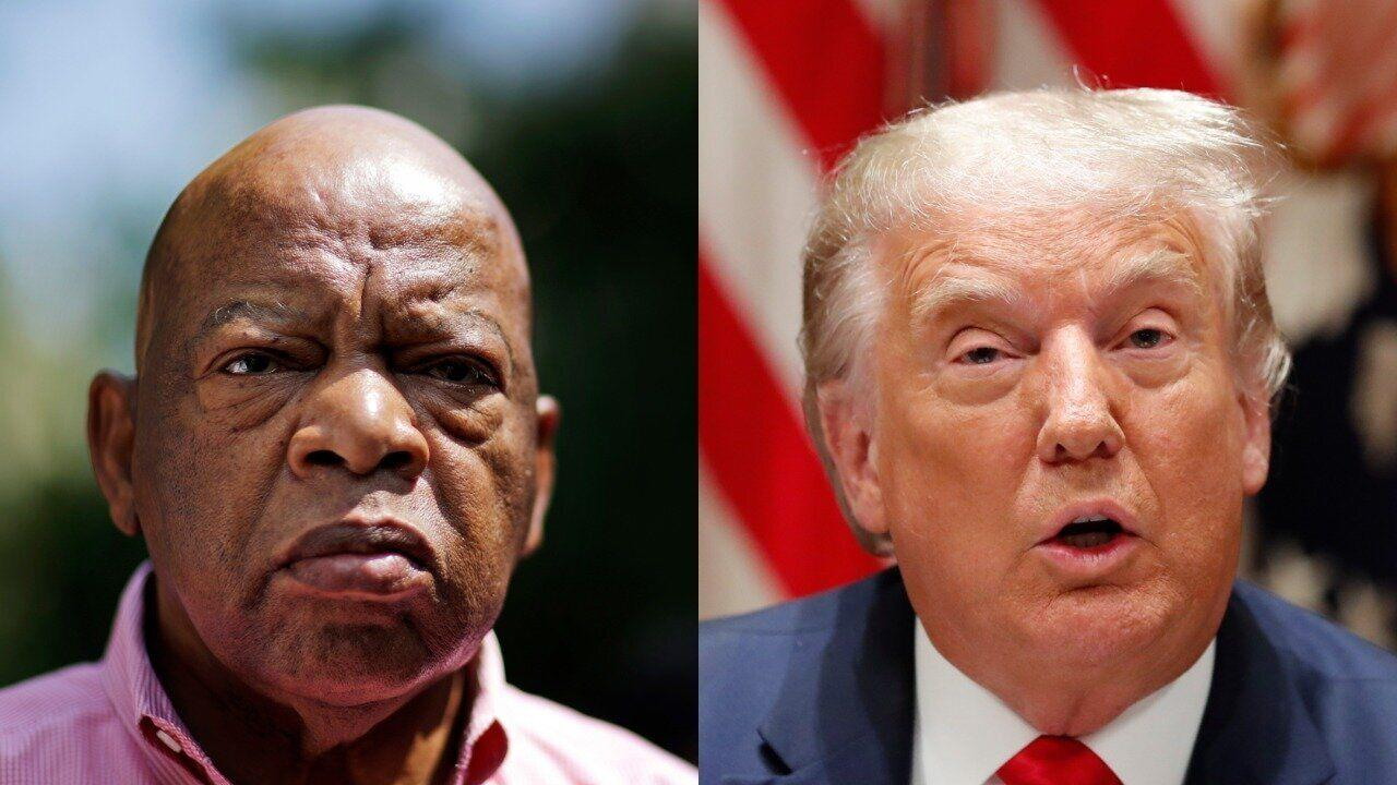 Asked About John Lewis' Legacy, Trump Gripes He Didn't 'Come To My Inauguration'