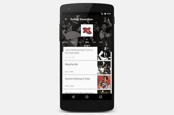 Rolling Stone archives hit Google Play Newsstand this week