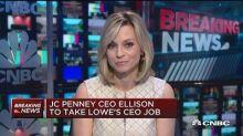 JC Penney was unaware of Ellison departure last week