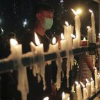 Hong Kong protesters defy ban to hold vigil for Tiananmen Square victims