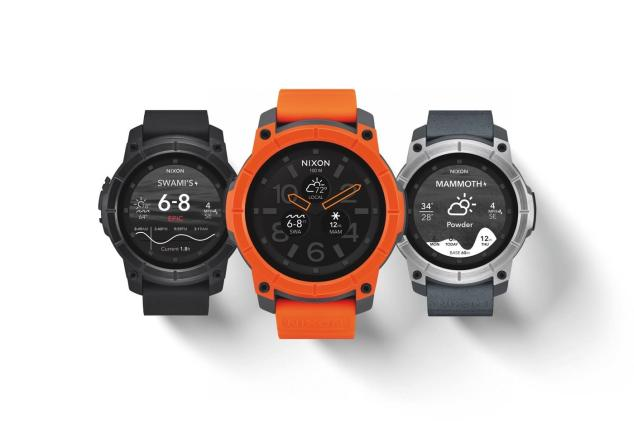 Nixon's Android Wear smartwatch is water resistant up to 100 meters