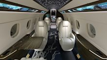 This high-tech Embraer private jet design seamlessly blends sustainability and technology. Take a look at Praeterra.