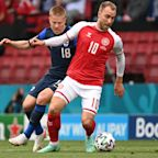 Christian Eriksen collapses during Denmark's Euro 2020 match against Finland