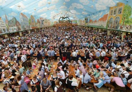The Oktoberfest festival tent is open at the Theresienwiese festival grounds in Munich, southern Germany. With about eight million beers downed each year at the Oktoberfest, you might expect a few items to go awry, but the lost-and-found office at the world's top beer fest really has seen it all