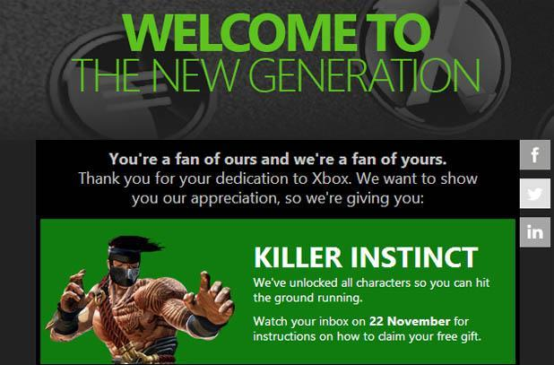 Microsoft offering Killer Instinct free on Xbox One to some longtime fans (update)
